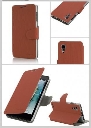 Стильный чехол книжка Lenovo P780 IdeaPhone цвета в наличии:  коричневый, зелен. Запорожье, Запорожская область. фото 3