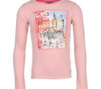 Фото 1-3: Lee Cooper Long Sleeve Print T Shirt Junior Girls. Возраст 13 лет. Ши. Запорожье, Запорожская область. фото 2