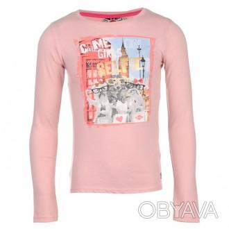 Фото 1-3: Lee Cooper Long Sleeve Print T Shirt Junior Girls. Возраст 13 лет. Ши. Запорожье, Запорожская область. фото 1