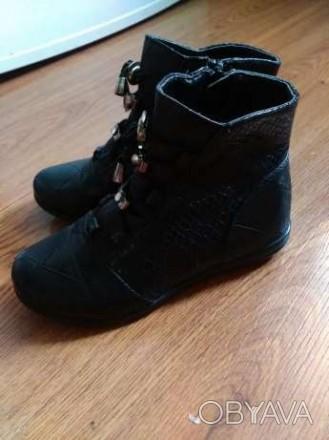 Продам деми ботиночки в хорошем состоянии, кожаные, р. 30, по стельке 19,5 см.че. Запоріжжя, Запорізька область. фото 1