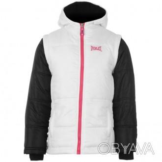 Теплая куртка Everlast Contrasting Sleeve Jacket Junior Girls Размер 7-8 лет. . Запорожье, Запорожская область. фото 1