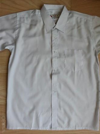 Модель Б-8. Белая классическая рубашка. Смешанный состав.   На возраст до 14 ле. Киев, Киевская область. фото 1