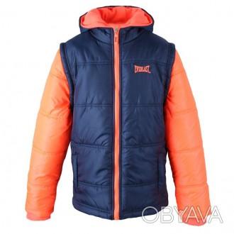 Теплая куртка Everlast Contrasting Sleeve Jacket Junior Girls Размер 9-10 лет . Запоріжжя, Запорізька область. фото 1