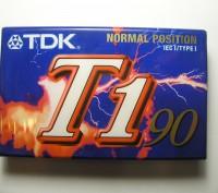 Кассета TDK T1 запечатанная 1 штука.. Львов. фото 1