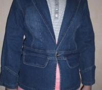 Куртка-пиджак джинсовая. Запорожье. фото 1