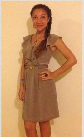 Стильное коричневое летнее платье. Харьков. фото 1