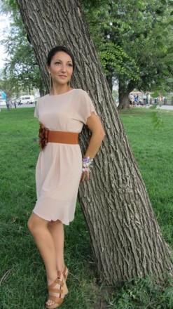 Шикарное бежевое платье ZARA. Харьков. фото 1
