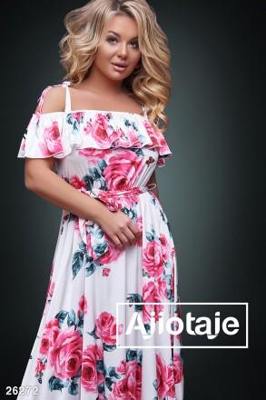 Романтичный женственный сарафан в пол большие размеры 26272 цвета. Киев. фото 1