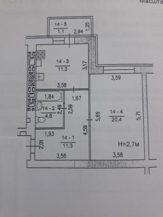 Продам 1кімнатну квартиру в зданій новобудові з розвиненою інфраструктурою район. Хмельницкий, Хмельницкая область. фото 6