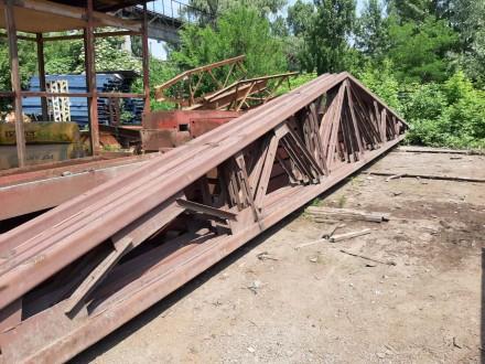 Продам металлические двускатные фермы 18 м высота 2 м, выполнены из гнутого швел. Бровары, Киевская область. фото 3