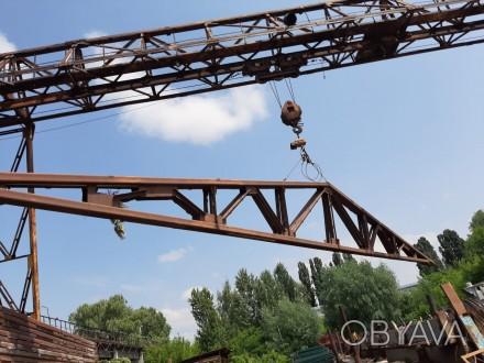 Продам металлические двускатные фермы 18 м высота 2 м, выполнены из гнутого швел. Бровары, Киевская область. фото 1
