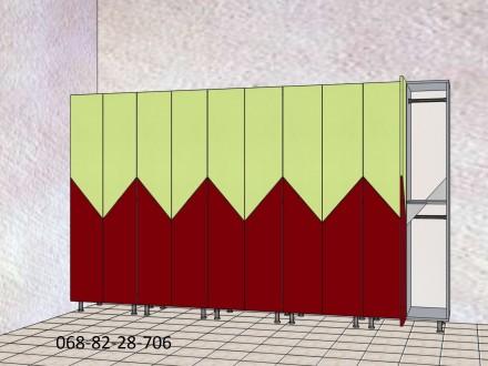 Изготовление шкафчиков для хранения вещей сотрудников или клиентов под ключ. Мат. Киев, Киевская область. фото 3