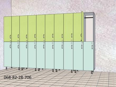 Изготовление шкафчиков для хранения вещей сотрудников или клиентов под ключ. Мат. Киев, Киевская область. фото 4