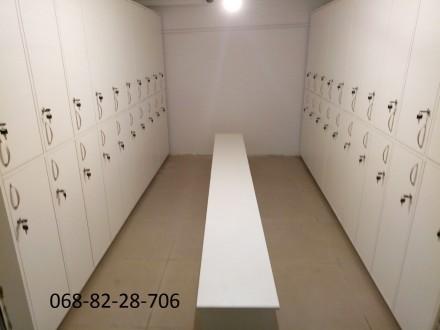 Изготовление шкафчиков для хранения вещей сотрудников или клиентов под ключ. Мат. Киев, Киевская область. фото 6