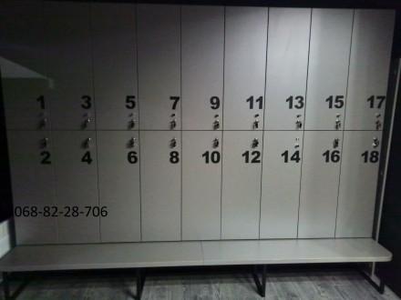 Изготовление шкафчиков для хранения вещей сотрудников или клиентов под ключ. Мат. Киев, Киевская область. фото 7