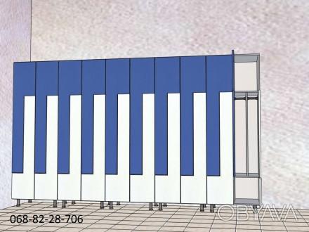 Изготовление шкафчиков для хранения вещей сотрудников или клиентов под ключ. Мат. Киев, Киевская область. фото 1