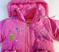 Яркая розовая курточка на принцессу. Рукавички пристегиваются  на кнопочках к ка. Запорожье, Запорожская область. фото 3