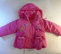 Яркая розовая курточка на принцессу. Рукавички пристегиваются  на кнопочках к ка. Запорожье, Запорожская область. фото 2