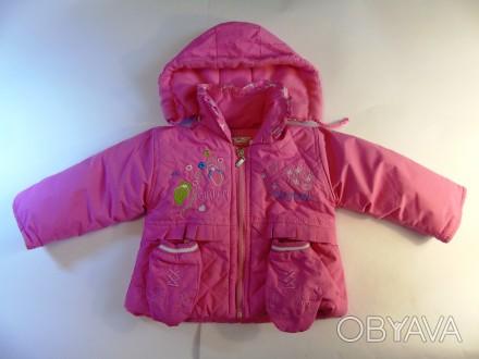 Яркая розовая курточка на принцессу. Рукавички пристегиваются  на кнопочках к ка. Запорожье, Запорожская область. фото 1