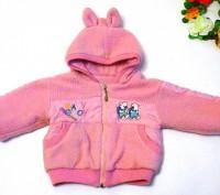 Яркий розовый костюм на маленькую принцессу. Теплые курточка и брючки. На капюшо. Запорожье, Запорожская область. фото 4