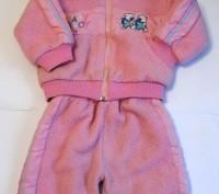 Яркий розовый костюм на маленькую принцессу. Теплые курточка и брючки. На капюшо. Запорожье, Запорожская область. фото 2