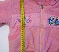 Яркий розовый костюм на маленькую принцессу. Теплые курточка и брючки. На капюшо. Запорожье, Запорожская область. фото 6