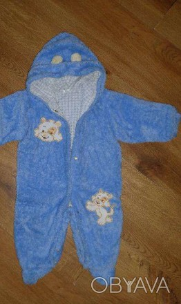 Продаю детский демисезонный махровый комбинезон. цвет голубой. Застегивается на . Запоріжжя, Запорізька область. фото 1