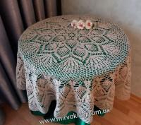 Вязаные скатерти крючком на стол. Киев. фото 1