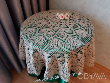 ᐈ вязаные скатерти крючком на стол ᐈ киев 1000 грн Obyavaua