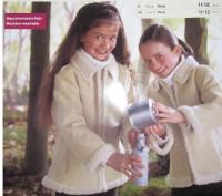 Прекрасная искусственная дубленка машинной вязки из Германии для девочки.Распрод. Запорожье, Запорожская область. фото 4