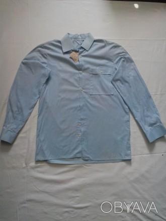 Новая рубашка на мальчика подростка 13-15 лет,размер 46,ворот 39,рост 170-176,10. Запорожье, Запорожская область. фото 1