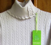 Прекрасного качества белые свитера для девочки фирмы MANY&MANY Китай.Распродажа . Запорожье, Запорожская область. фото 6