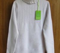 Прекрасного качества белые свитера для девочки фирмы MANY&MANY Китай.Распродажа . Запорожье, Запорожская область. фото 5