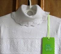 Прекрасного качества белые свитера для девочки фирмы MANY&MANY Китай.Распродажа . Запорожье, Запорожская область. фото 4
