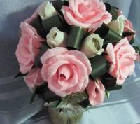 Конфетный букет Топиарий  - это букет сюрприз,в каждом цветочке конфета (шоколад. Запорожье, Запорожская область. фото 3