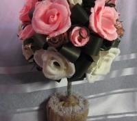 Конфетный букет Топиарий  - это букет сюрприз,в каждом цветочке конфета (шоколад. Запорожье, Запорожская область. фото 2