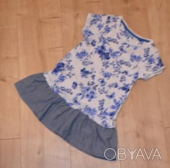Платье Next ( I LOVE NEXT) на девочку на 3-4 года. Состояние б/у, БЕЗ ДЕФЕКТОВ И. Кривой Рог, Днепропетровская область. фото 1