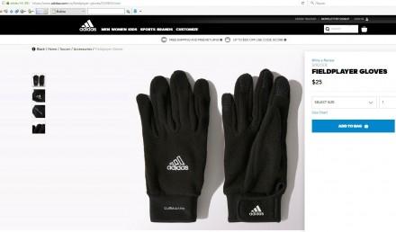 Продам оригинальные детские перчатки адидас adidas climawarm.  Размеры: 7, 8, . Киев, Киевская область. фото 7