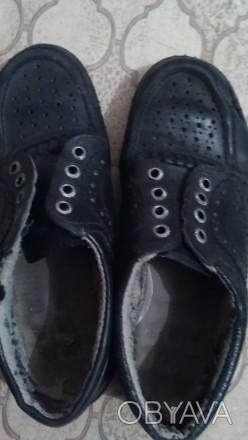 кожанные, черные, на шнурках, в дырочку, легкие, ношенные , но мягкие и удобные. Днепр, Днепропетровская область. фото 1