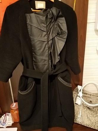 Пальто черное драповое. Полтава. фото 1