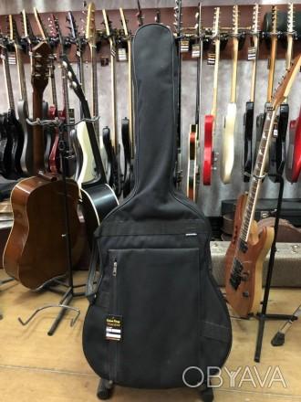 · Длина: 107см · Ширина: 45см   Чехол для Акустической гитары, состояние видно н. Чернигов, Черниговская область. фото 1