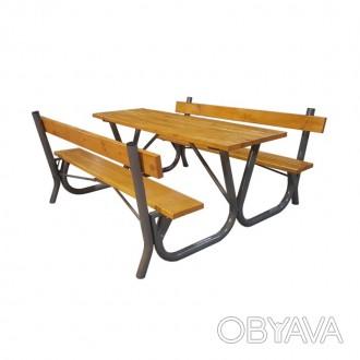 Предлагаем садовый столик, стол с лавками и другую мебель для проведения досуга . Киев, Киевская область. фото 1