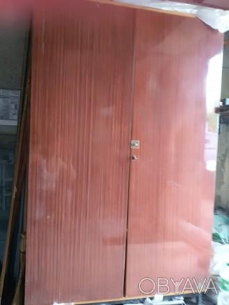 Шкаф двустворчатый Полированный. Запорожье, Запорожская область. фото 1