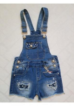 В наявності джинсові комбінезони для дівчат,8-10-12-14-16-18,Венгрія. Диканька. фото 1