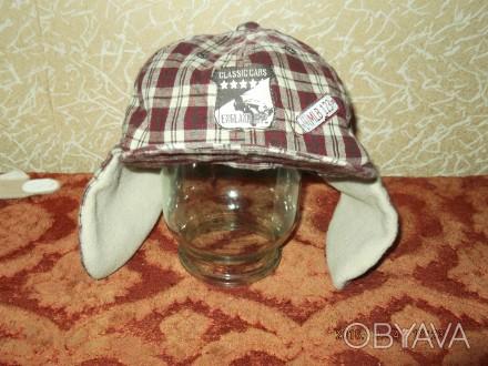 Продам утепленную кепку на мальчика 1-2 года, верх - хлопок, внутри - флис. Сост. Чернигов, Черниговская область. фото 1