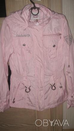 Куртка-ветровка для девочки в отличном состоянии с капюшоном. Ткань-плащевка. Из. Житомир, Житомирская область. фото 1