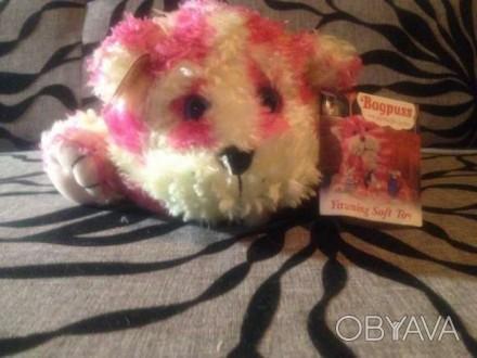 """Продам мягкую игрушку """"Розовый котёнок"""".Состояние новое,размер 25х15 см.. Запорожье, Запорожская область. фото 1"""
