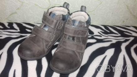 Ботинки кожаные, в хорошем состоянии. Стелька 15,5 см.. Сумы, Сумская область. фото 1