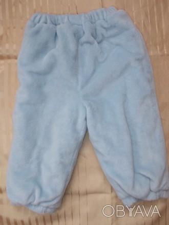 Теплые и очень мягенькие штанишки, на резинке. В идеальном состоянии. ПОТ 21-30. Полонное, Хмельницкая область. фото 1