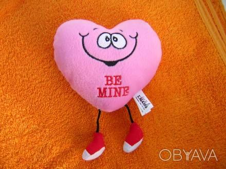 Мягкая игрушка (сердечко которое хохочет) Размер:Ширина и высота 14 см. толщина . Киев, Киевская область. фото 1